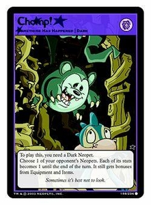 Neopets Trading Card Game Common Single Card #188 Chomp!