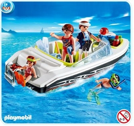 Playmobil Vacation & Leisure Set #4862 Family Speedboat