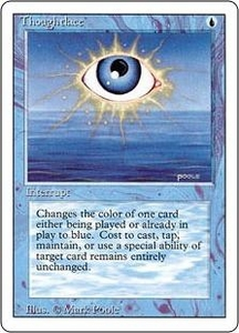 Magic the Gathering Revised Edition Single Card Rare Thoughtlace
