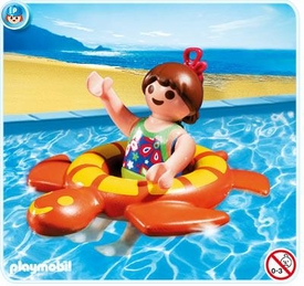 Playmobil Vacation & Leisure Set #4860 Girl with Swimming Ring