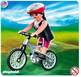 Playmobil Vacation & Leisure Set #4743 Woman on Mountain Bike