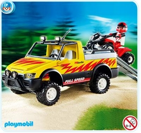 Playmobil Vacation & Leisure Set Limited Edition #4228 Pick-Up Truck with Quad Bike