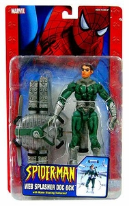 Spider-Man Action Figure Web Splasher Doc Ock [Water Blasting Tentacles] Damaged Package Mint Contents!