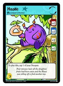 Neopets Trading Card Game Common Single Card #200 Hasee
