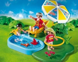 Playmobil Vacation & Leisure Set #4140 Wading Pool Compact Set [Damaged Package, Mint Contents!]
