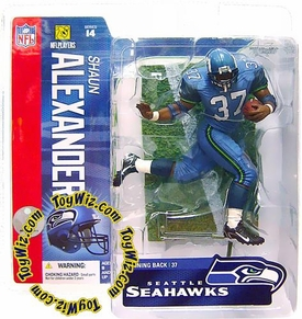 McFarlane Toys NFL Sports Picks Series 14 Action Figure Shaun Alexander (Seattle Seahawks) Teal Uniform