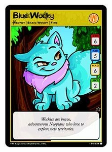 Neopets Trading Card Game Common Single Card #160 Blue Wocky