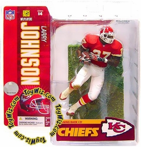 McFarlane Toys NFL Sports Picks Series 14 Action Figure Larry Johnson (Kansas City Chiefs) Red Jersey