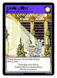 Neopets Trading Card Game Common Single Card #209 Library Visit