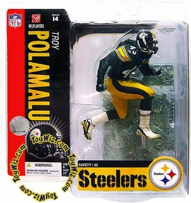 McFarlane Toys NFL Sports Picks Series 14 Action Figure Troy Polamalu (Pittsburgh Steelers) Snow on Field Variant