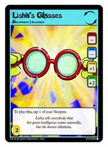 Neopets Trading Card Game Common Single Card #210 Lisha?s Glasses