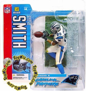 McFarlane Toys NFL Sports Picks Series 14 Action Figure Steve Smith (Carolina Panthers) White Jersey