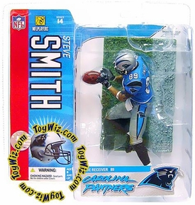McFarlane Toys NFL Sports Picks Series 14 Action Figure Steve Smith (Carolina Panthers) Blue Jersey Variant