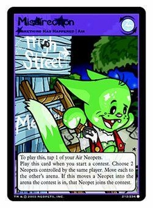 Neopets Trading Card Game Common Single Card #212 Misdirection