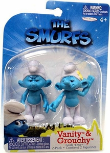 The Smurfs Movie Grab 'Ems Mini Figure 2-Pack Vanity & Grouchy