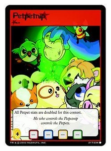 Neopets Trading Card Game Common Single Card #217 Petpetnip