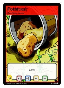 Neopets Trading Card Game Common Single Card #219 Potatoes