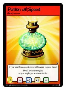 Neopets Trading Card Game Common Single Card #220 Potion of Speed