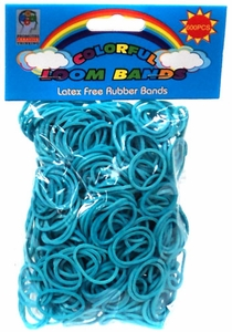 Colorful Loom Bands 600 TEAL Rubber Bands with 'S' Clips