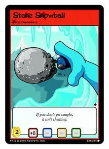 Neopets Trading Card Game Common Single Card #228 Stone Snowball