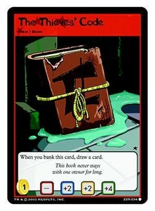 Neopets Trading Card Game Common Single Card #229 The Thieves Code