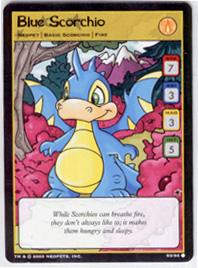 Neopets Trading Card Game Common Single Card #S3 Blue Scorchio