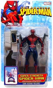 Spider-Man Toy Biz Action Figure Super Strength Spider-Man [Extreme Lifting Action]