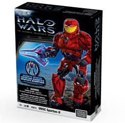 Halo Wars Mega Bloks Magnetic Figure Set #29672 RED UNSC Spartan-II