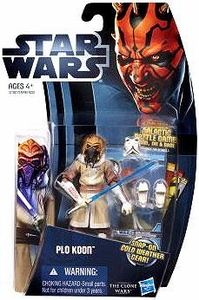 Star Wars 2012 Clone Wars Action Figure #06 Plo Koon [Snap-On Cold Weather Gear!]