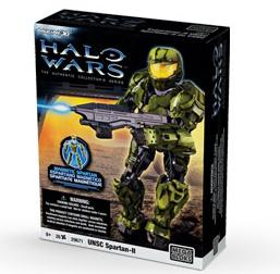 Halo Wars Mega Bloks Magnetic Figure Set #29671 GREEN UNSC Spartan-II