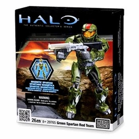 Halo Wars Mega Bloks Magnetic Figure Set #29765 Team Red Green Spartan