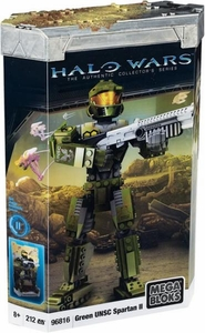 Halo Wars Mega Bloks Buildable Figure Set #96816 Green UNSC Spartan II