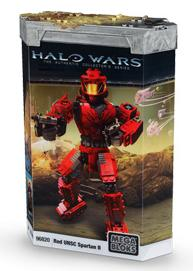 Halo Wars Mega Bloks Buildable Figure Set #96820 Red UNSC Spartan II