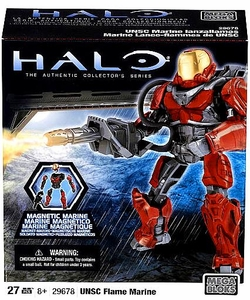 Halo Wars Mega Bloks Metalons Set #29678 UNSC Flame Marine [Red]