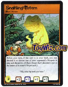 Neopets Trading Card Game Mystery Island Holofoil Rare Single #12 Snarling Totem