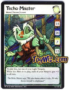 Neopets Trading Card Game Mystery Island Holofoil Rare Single #13 Techo Master