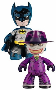 DC Universe 2010 SDCC San Diego Comic-Con Exclusive Mez-Itz Designer Vinyl Figure 2-Pack Batman & The Joker