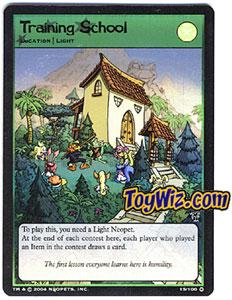 Neopets Trading Card Game Mystery Island Holofoil Rare Single #15 Training School