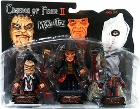Mez-itz Cinema of Fear Series II Mini Figure 3-Pack [Leatherface, Freddy Krueger & Jason]