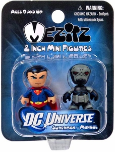 DC Universe Mini Mez-Itz Series 1 Vinyl Figure 2-Pack Superman & Mongul