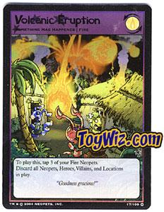 Neopets Trading Card Game Mystery Island Holofoil Rare Single #17 Volcanic Eruption