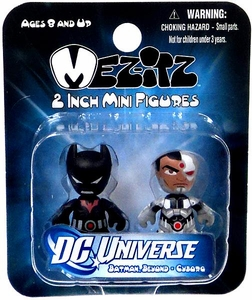 DC Universe Mini Mez-Itz Series 2 Vinyl Figure 2-Pack Batman Beyond & Cyborg