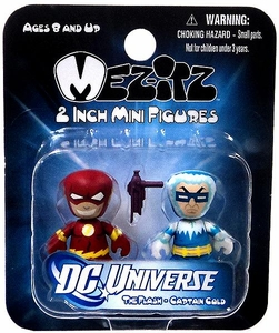 DC Universe Mini Mez-Itz Series 2 Vinyl Figure 2-Pack The Flash & Captain Cold