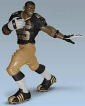 Upper Deck Authenticated All Star Vinyl Figure Reggie Bush (Black Jersey / Gold Pants) [Limited to 500]
