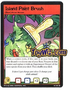 Neopets Trading Card Game Mystery Island Holofoil Rare Single #5 Island Paint Brush