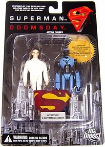 DC Direct Superman Doomsday Action Figure Lex Luthor & Superman's Robot BLOWOUT SALE!