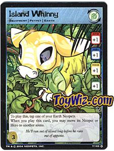 Neopets Trading Card Game Mystery Island Holofoil Rare Single #7 Island Whinny