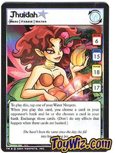 Neopets Trading Card Game Mystery Island Holofoil Rare Single #8 Jhuidah