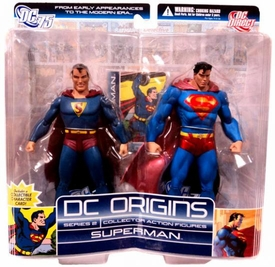 DC Direct Origins Series 2 Collector Action Figure 2-Pack Superman