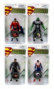 DC Direct Superman New Krypton Series 1 Set of 4 Action Figures [Braniac, Mon-El, Superman & Superwoman]